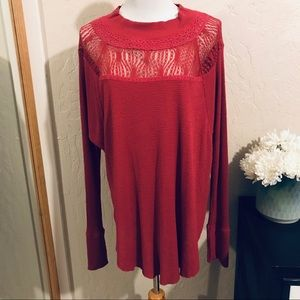 Free people long sleeve top (oversized) size S
